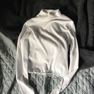 Garage Tops - Cropped Long Sleeve Turtleneck
